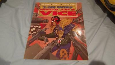 Judge Dredd's Mega-City Vice Book From 1990