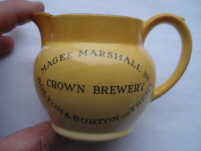 C1930S Magee Marshall& Co Ltd Crown Brewery Bolton&burton On Trent Adv Water Jug