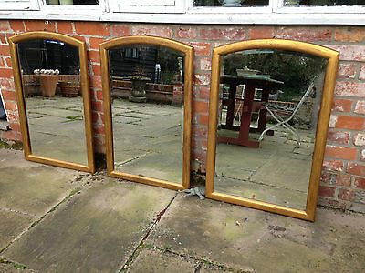 Set of 3 French gilt frame mirrors