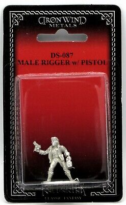 Ral Partha DS-087 Shadowrun Male Rigger with Pistol Mercenary Driver Pilot Hero