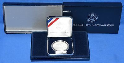 1991-1995 WWII 50th Anniversary Commemorative Uncirculated $1 Silver Coin
