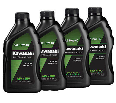 Genuine Kawasaki 10W40 Conventional Motorcycle Oil 4 Pack