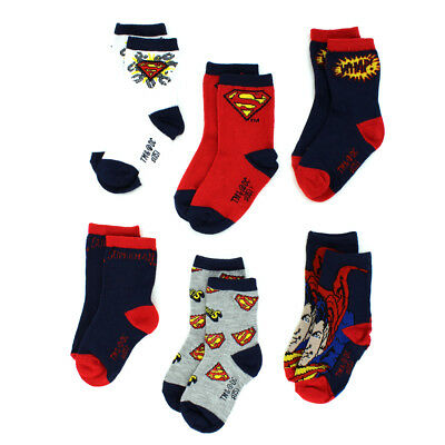 DC Comics Superman Boys 6 pack Crew Socks IUK607871