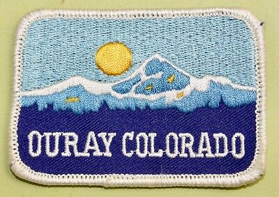 """3"""" x 2"""" """"OURAY COLORADO"""" Cloth Patch/ USA / MUST SEE / $3 to Ship"""