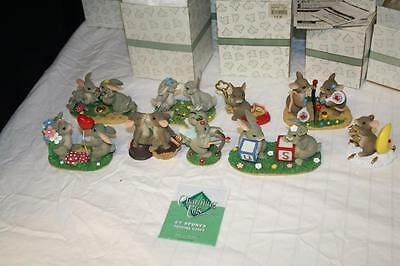 Charming Tails Lot Of 9 Fitz And Floyd Nib Dean Griff Signed Figurine