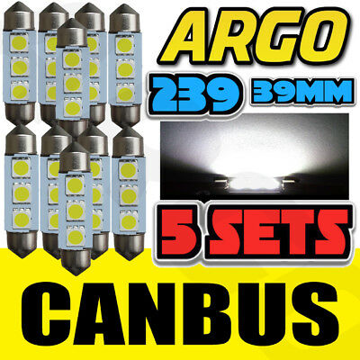 10X Error Free Canbus Smd Led 38Mm 239 272 C5W Xenon White Number Plate Bulb Uk