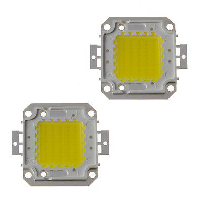 2Pcs 50W Cool White High Power 50 Watt Chip LED Panel Lamp Light 4000LM 30V-40V