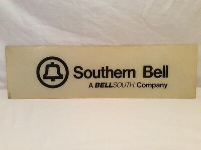 Vintage SOUTHERN BELL Telephone Phone Booth Sign BELLSOUTH Plastic? Fiberglass?