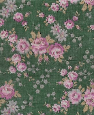 Antique 1910 Hazy Floral Sheer Fabric