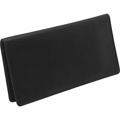 Osgoode Marley Cashmere Checkbook Cover Wallet 1510 Black New with Tags NWT