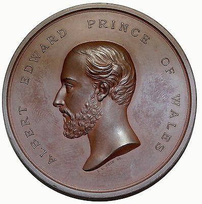 1872 Prince Of Wales Recovery From Typhoid Thanksgiving Medal By Wyon BHM.2929