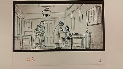Balto Animated Film - Storyboard - Rosy/Family/Doctor -USSBA.009.287