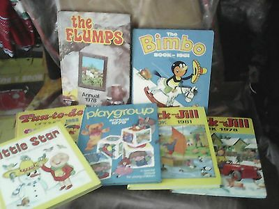 Nice Lot Of Rare Retro Annuals/books, 7,jack & Jill Annual 1978/1981,flumps, Vgc