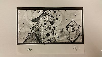 Balto Animated Film - Storyboard - Balto/Coal Falling -USSBA.009.532