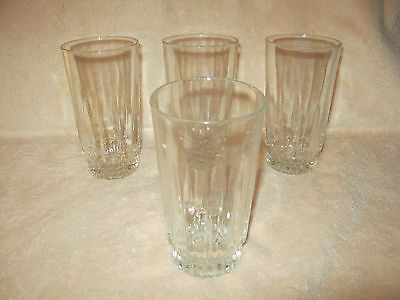 "4 ~ 12 ounce ARCOROC Lancer Glasses ~ Clear ~ 5 1/2"" tall"