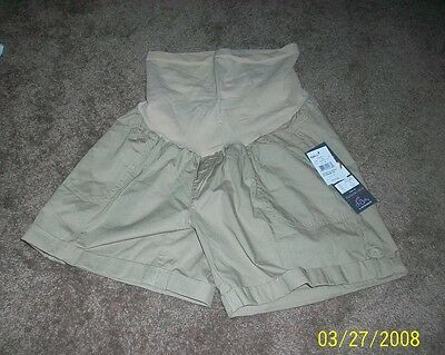 Nwt $40 Retail Oh Baby Sz Small Tannish Maternity Shorts -  W9C