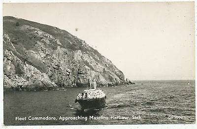 Fleet Commodore, approaching Maseline Harbour, Sark