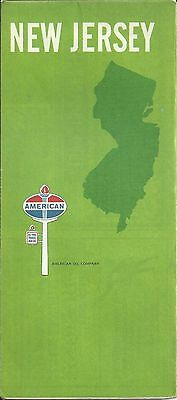 American Oil Company Vintage 1969 New Jersey Highway Map
