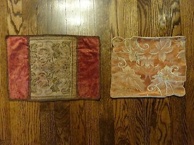 2 Antique Tapestry Doilies