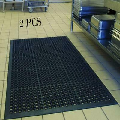 "2PCS Anti-Fatigue Floor Mat 36""*60"" Indoor Commercial Industrial Heavy Duty Use"