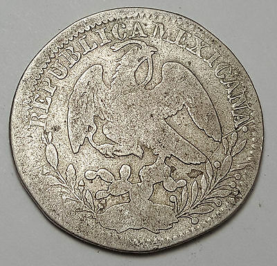 1835 Zs OM Mexico Silver 2 Reales Coin KM#374.12