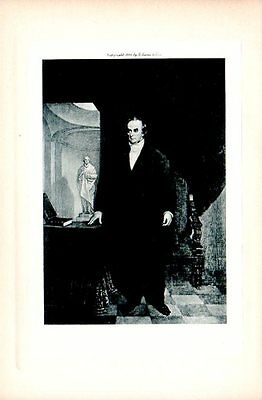 DANIEL WEBSTER VINTAGE Old Portrait Antique Art Print