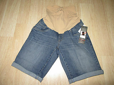 Womens Oh Baby By Motherhood Maternity Distressed Cuffed Denim Shorts Size L