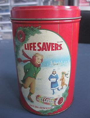 Vintage Life Savers 1991 Limited Edition Holiday Keepsake Tin Empty