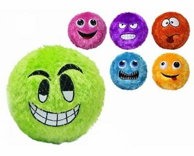 New Fuzzy Face Inflatable Bouncy Beach Garden Park Ball 9-20 Inch