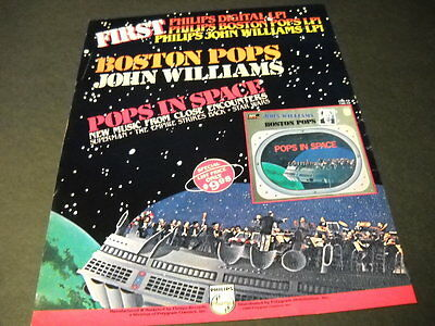 BOSTON POPS Pops In Space with JOHN WILLIAMS 1980 PROMO POSTER AD mint condition