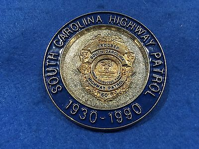 1990 South Carolina Highway Patrol 60 Year Anniversary Badge Plaque Emblem