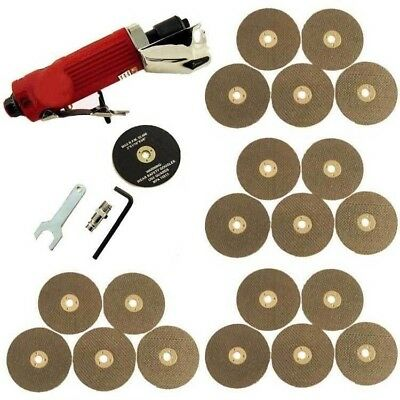 "3"" Air Cut Off Tool Grinder Cutter Tool + 21 Cutting Discs - 3 Year Warranty"