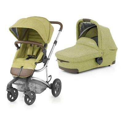 BabyStyle 2-in-1 Hybrid Edge Pushchair with Carrycot Pram (Pistachio)