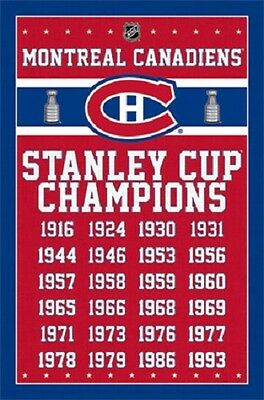 """Montreal Canadians Stanley Cup Championships NHL poster 22.5 x 34"""""""