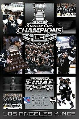 """Los Angeles Kings Stanley Cup Championship Celebration NHL poster 22.5 x 34"""""""
