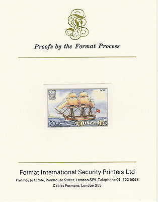 Tuvalu 3034 - 1986 SHIPS 50c on Format International PROOF  CARD