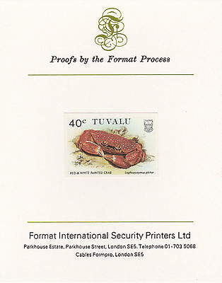 Tuvalu 3037 - 1986 CRABS 40c on Format International PROOF  CARD