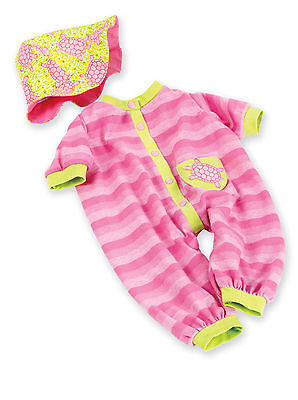 "Madame Alexander Pink Turtle Romper and Hat 19"" Doll Outfit - NEW"