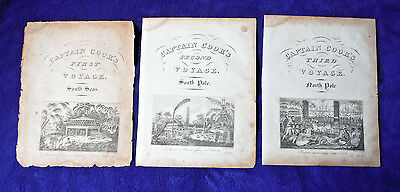 Voyages CAPT COOK 3 ANTIQUE ENGRAVINGS c 1810 Tonga Polynesia Tahiti PACIFIC