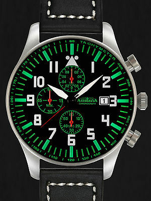 ASTROAVIA XXL AIR CRAFT 10L NEW EDITION 6 ZEIGER CHRONOGRAPH 46mm FLIEGERUHR N23