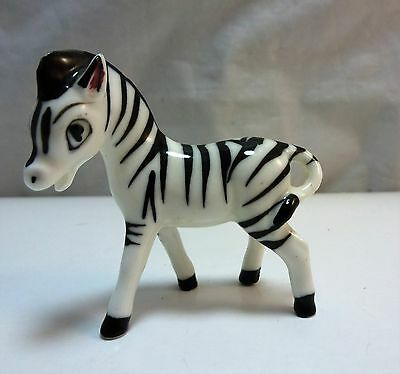 "Miniature 2"" Glass Zebra Figurine"