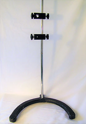 "Heavy Lab Cast Iron Base Support Stand Chemistry Biology 24"" Height Circular"