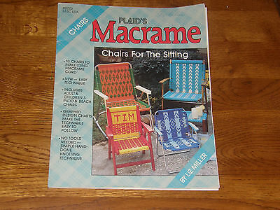 Vintage Macrame Chairs for sitting - Lawn Chair Pattern Booklet