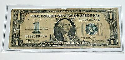 $1.00 Series 1934 Silver Certificate 'Funny Back' Type bill   SN: C37258673A
