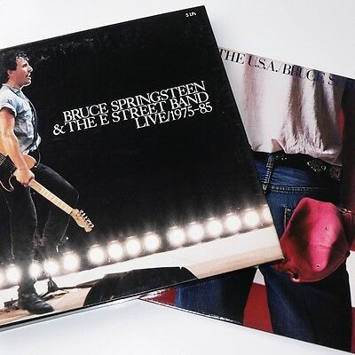 BRUCE SPRINGSTEEN - LIVE 1975-85 box set 5 LP & BORN IN THE USA - both EX-