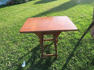 "Vintage Drop Leaf End Table 23"" tall"