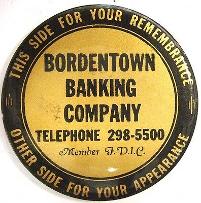 Mirror - Bordentown Banking Co. (N.J.) This side for your remembrances...