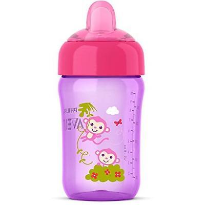 Philips Avent My Sip-n-Click Cup, Pink/Purple, 12 Ounce New