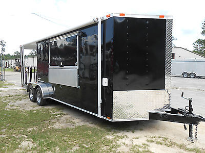 NEW 7x22 7 X 22 Enclosed Concession Food Vending BBQ Porch Trailer * MUST SEE *