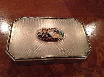 Gorgeous Sterling Silver Box-cigar Jewelry Box Hand Painted, Happy Ganesha
